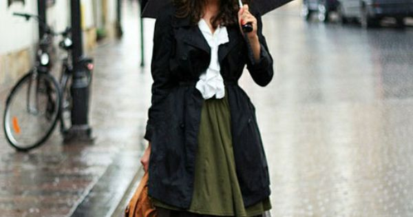 rainy day chic.