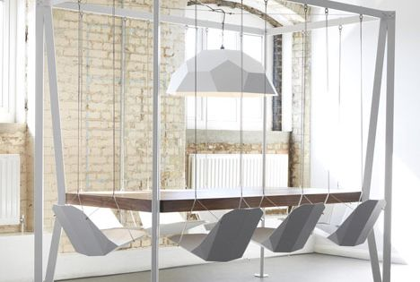 swing set conference table by Duffy London, might just be the best