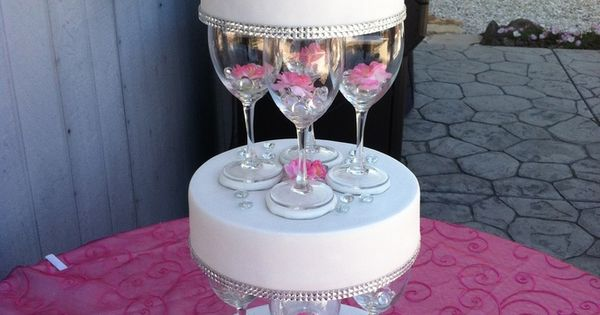 wedding cake champagne glasses separated wedding cakes 10 and 12 inch tiers 22179