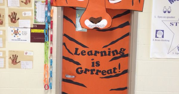 Classroom Mascot Ideas ~ Tiger mascot classroom door school pinterest