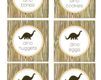 Dino-Mite Dinosaur Food Labels Dinosaur Printable Food Labels Dinosaur Printable Party Decor Dinosaur Food Tent Dinosaur Birthday Party