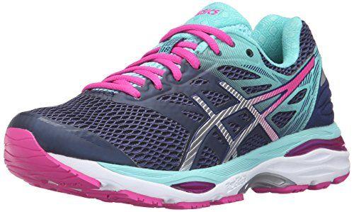 Asics Womens Gelcumulus 18 Running Shoe Indigo Bluesilverpink Glow 95 M Us Click Image For More Details Best Walking Shoes Running Shoes Asics Women