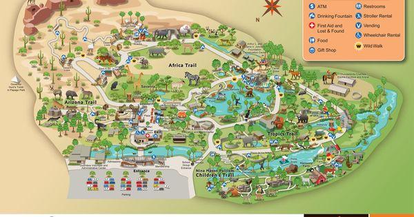 Phoenix Zoo Map Phoenix Vacation Pinterest Zoos And
