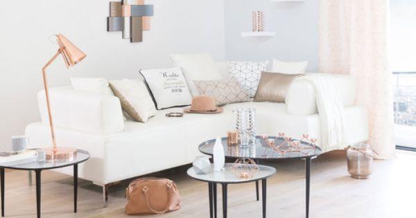 lanterne en verre effet cuivr bartholdy coussin queens canap duo tables gigognes galet. Black Bedroom Furniture Sets. Home Design Ideas