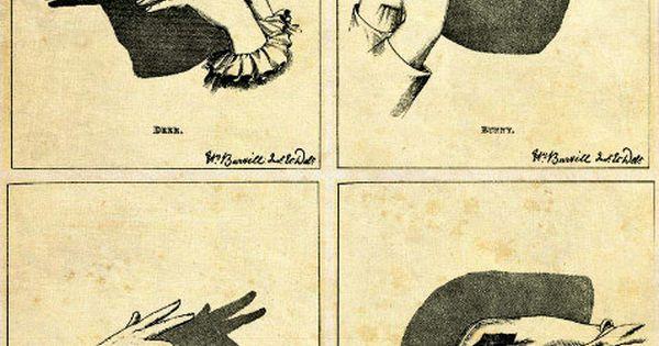 Vintage Print Shadow Puppets - Vintage Illustration Print - Victorian Children Hands