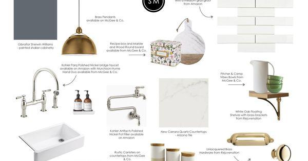 Get the look contrast kitchen studio mcgee design process and studio - Kitchen design process ...