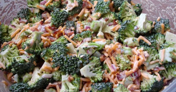This looks right up my alley~! Skinny Broccoli Salad - one of