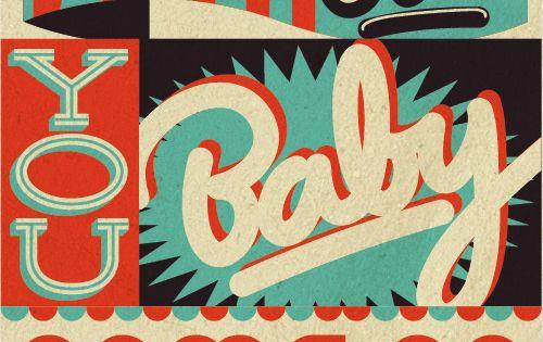 Retro Typography by Sam Bevington