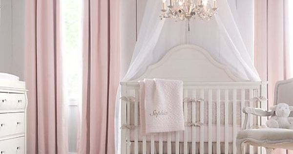 baby girl room, minus the chandelier.