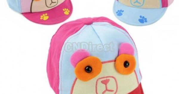 01 New Baby Cute Spectacled Bear Cricket Baseball Cap Hat Headwear ...