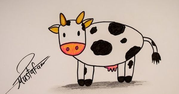 How To Drawing Cow For Kids Drawing For Kids Drawings Pikachu