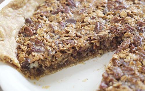 Oatmeal Chocolate Pecan Pie.