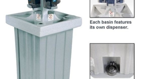 Polyjohn Ps14 1000 4 Person Wash Portable Hand Washing Sink