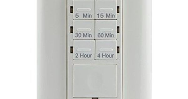 Defiant 6 4 Amp 4 Hour In Wall Countdown Timer Switch With No Neutral Wire For Lights Exhaust Fans Heat Digital Countdown Timer Digital Timer Countdown Timer