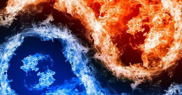Graphique art, des flammes rouges bleues iPhone 6 Plus Fonds d'écran - 1080x1920   Fond d'écran ...