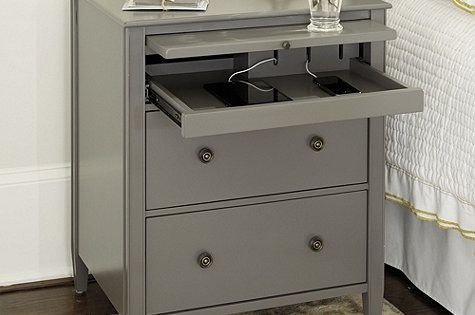 Sidney Side Table With Charging Station Bedrooms Master