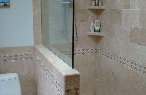 Copy Of 2nd Fl Shower Half Wall Half Walls Stone Shower