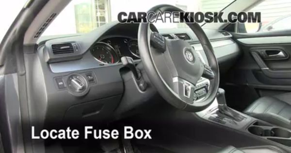 Interior Fuse Box Location: 2009-2014 Volkswagen CC 2009 Volkswagen CC  Luxury 2.0L 4 Cyl. Turbo   Volkswagen cc, Vw passat cc, Volkswagen