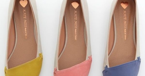 Stylish Comfy Pointed Toe Ballet Flats Loafers Pink Yellow Blue flats shoes