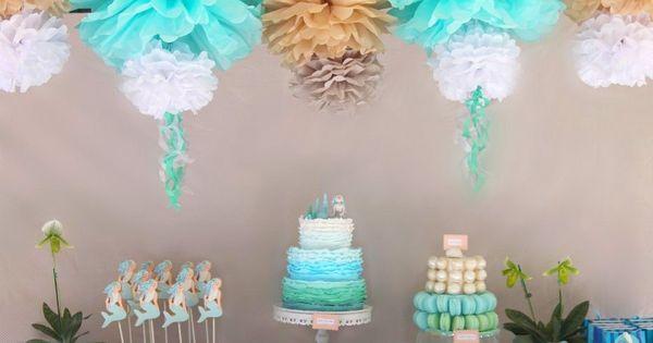 Mermaid Themed Birthday Party | | Kara's Party IdeasKara's Party Ideas. I
