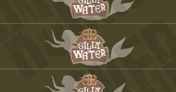 Custom Harry Potter Theme Gillywater Water Bottle Labels