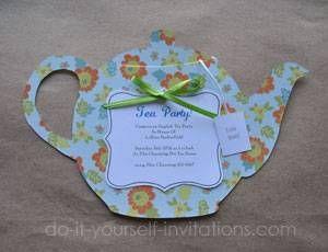 Make Tea Party Invitations Diy Tea Party Tea Party Invitations Valentines Tea Party