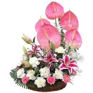 Flower Arrangement Pictures In Basket Bing Images Flower Arrangements Flower Delivery Anthurium Flower