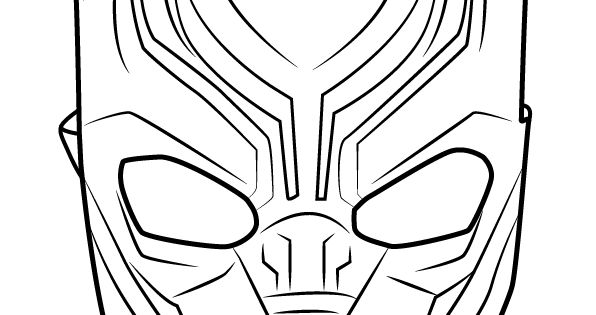 How to Draw Black Panther Mask