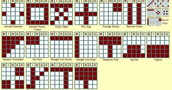 photo relating to Bingo Patterns Printable identified as Printable Bingo Models Impressive Impression Gallery