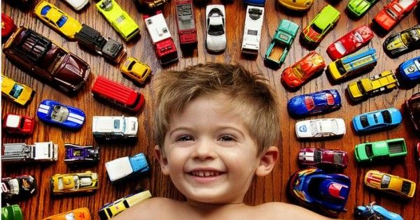 """Boy Photo Idea - Cars, Trucks, or their """"Passion"""" at that age"""