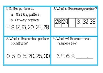 Growing And Shrinking Number Patterns And Number Sequences Math