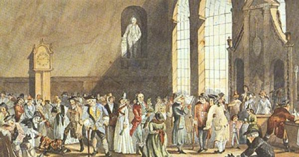 1792 John Nixon Water Colour Depicting Assembly Room At The Old