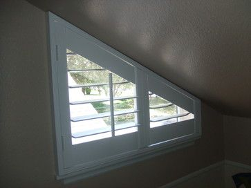 Thoughts On Covering A Triangular Window Home Decorating Design Forum Gardenweb Triangle Window Shaped Windows Attic Window