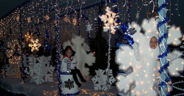Snowflake Snowman Christmas Float Parade Floats