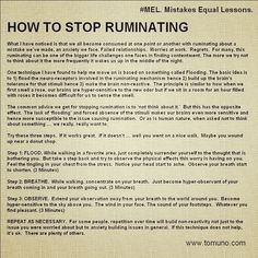 How To Stop Ruminating Intentions Day Lesson