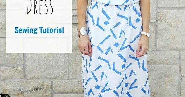 How to Sew a Simple Blouson Dress - Tutorial - ONE little