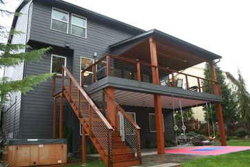 Second Story Deck With Cover For Ground