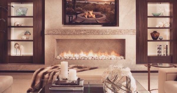Cozy Living Room Design De Interiores Pinterest Fireplaces Cozy