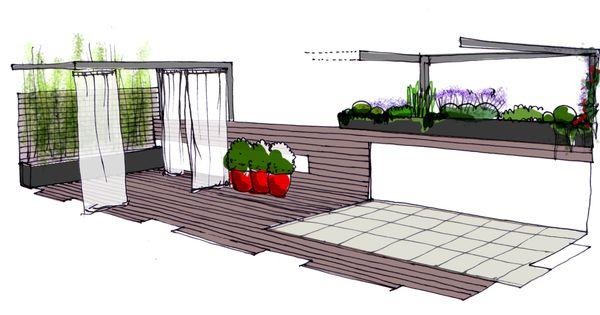 Dise o para un jardin en un tico en madrid paisajismo - Diseno de jardines madrid ...