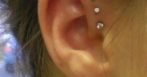 Ear piercings (piercings). Triple Helix - I want this next
