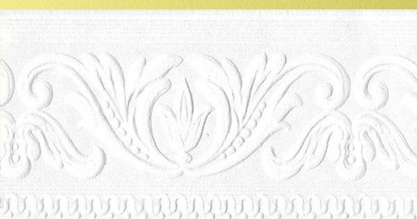 Classic Scroll Paintable Border Paintable Wallpaper by