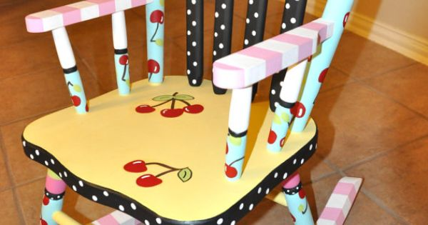 Hand Painted Personalized Child S Rocking Chair By Hughese