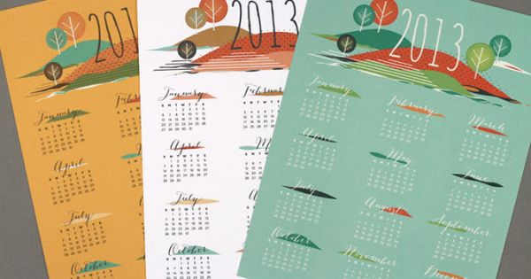 free printable 2013 calendars - from love vs design
