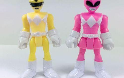 6x Fisher Price Imaginext Power Rangers Pink Yellow Red Blue Black Green Ranger