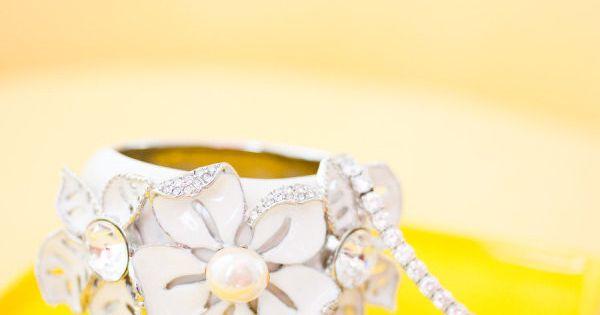Floral bracelet by Oscar de la Renta / Photography by candicebenjamin.com