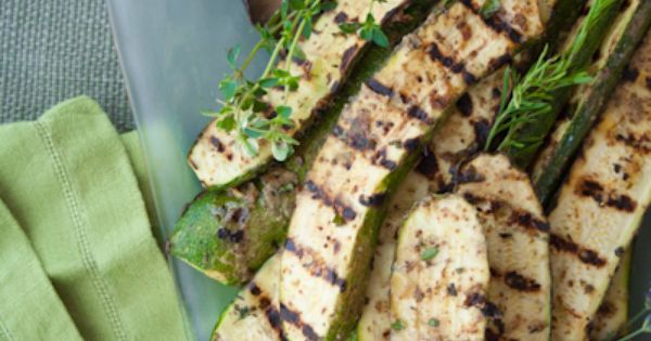 Grilled Zucchini and Portobello Mushrooms. A great side dish from @Healthy Seasonal