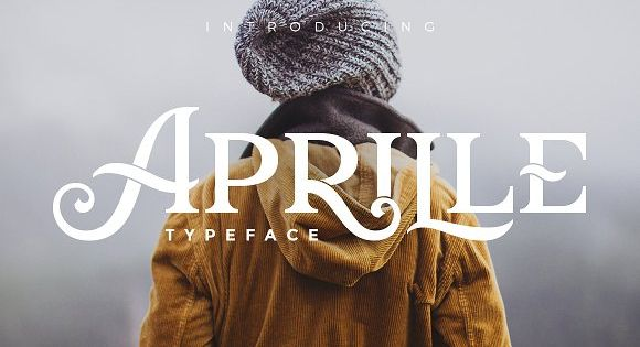 Aprille Typeface for display vintage font with tons of cool characters &symbols