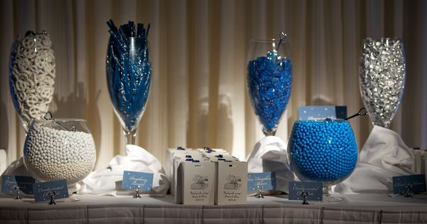 Penn State Wedding Gifts: Blue And White Candy Bar
