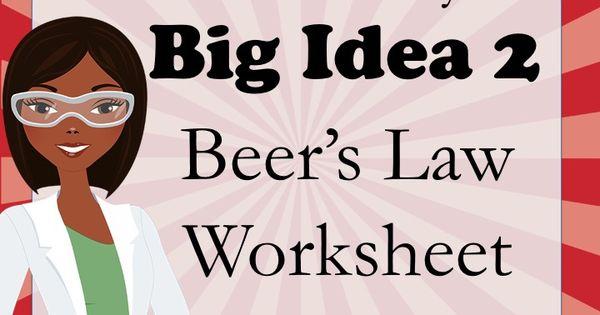 ap chemistry big idea 1 worksheet beer 39 s law beer lambert law ap chemistry worksheets and. Black Bedroom Furniture Sets. Home Design Ideas