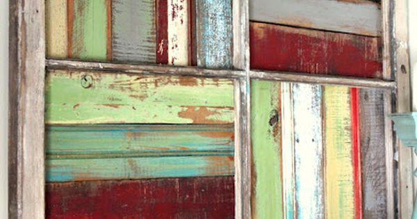 Painted Random Pieces Of Scrap Wood Trim Pieces Pallet